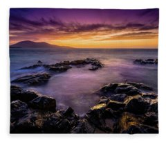 Ceapabhal And Traigh Mohr, Isle Of Harris Fleece Blanket