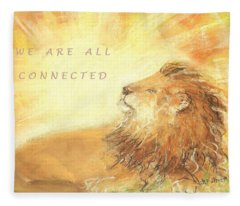 Cecil The Lion Fleece Blanket