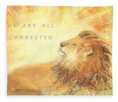 Cecil The Lion Fleece Blanket