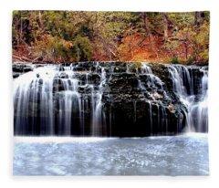 Cedar Creek Falls, Kansas Fleece Blanket