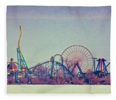 Cedar Point Skyline Fleece Blanket