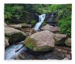 Cedar Rock Falls Fleece Blanket