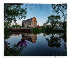 Cedarburg Mill Summer Night Fleece Blanket