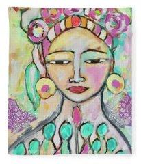 Celebrating Frida  Fleece Blanket