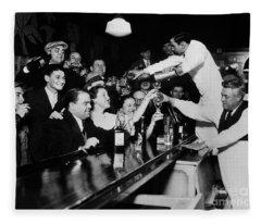 Celebrating The End Of Prohibition Fleece Blanket
