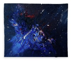 Fleece Blanket featuring the painting Celestial Harmony by Michael Lucarelli