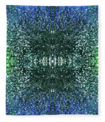 Celestial Projections Of The Cymatics Patterns #1453 Fleece Blanket