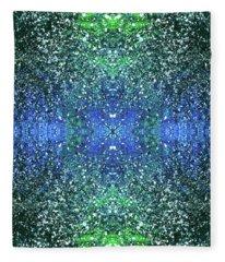 Celestial Projections Of The Cymatics Patterns #1456 Fleece Blanket