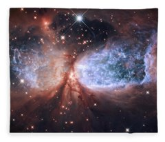 Celestial Snow Angel Fleece Blanket