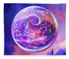 Celestial Snow Globe Fleece Blanket