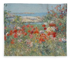 Celia Thaxter's Garden, Isles Of Shoals, Maine Fleece Blanket