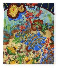 Cell Garden Fleece Blanket