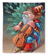 Cellist Fleece Blanket