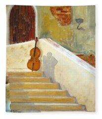 Cello No 3 Fleece Blanket