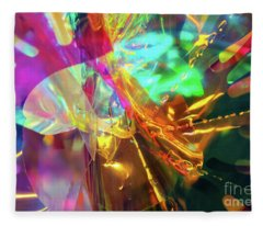 Cellophane And Lights Abstract One Fleece Blanket