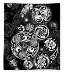 Celtic Clockwork Fleece Blanket