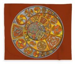 Celtic Crescents Fleece Blanket