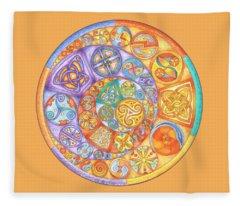 Celtic Crescents Rainbow Fleece Blanket