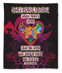 Celtic Eclipse Of The Heart Fleece Blanket
