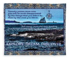 Celtic Explorer - Bluenose II In Halifax Harbour Fleece Blanket