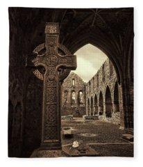 Celtic High Cross Jerpoint Abbey Ireland Fleece Blanket