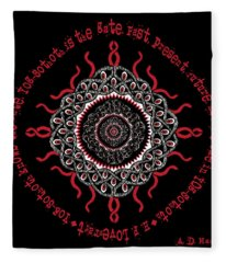 Celtic Lovecraftian Cosmic Monster Deity Fleece Blanket
