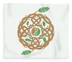 Celtic Nature Yin Yang Fleece Blanket