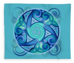 Celtic Planet Fleece Blanket