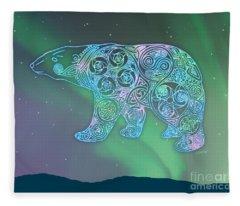 Celtic Polar Bear Fleece Blanket