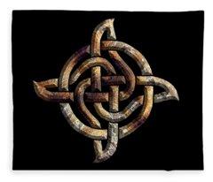 Celtic Rock Knot Fleece Blanket