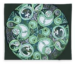 Celtic Stormy Sea Mandala Fleece Blanket