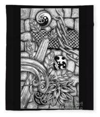 Celtic Surreality Fleece Blanket