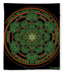 Celtic Tree Of Life Mandala Fleece Blanket