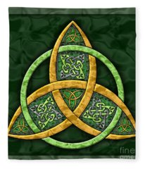 Celtic Trinity Knot Fleece Blanket