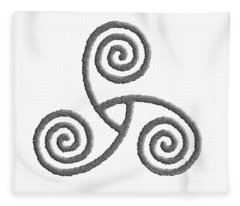 Celtic Triple Spiral Fleece Blanket