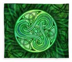 Celtic Triskele Fleece Blanket