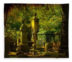 Cemetery In Charleston Fleece Blanket
