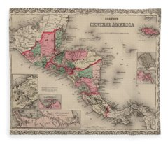 Central America Fleece Blanket