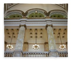 Central Library Milwaukee Interior Fleece Blanket