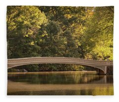 Central Park Bridge Fleece Blanket
