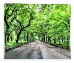 New York City Central Park Mall Fleece Blanket