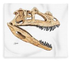 Ceratosaur Skull Fleece Blanket