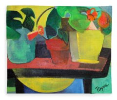 Cezanne Potting Stand Fleece Blanket