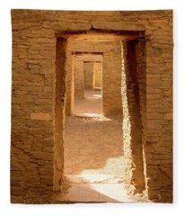 Chaco Ancient Doors   Fleece Blanket