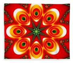 Chained Sunburst Fleece Blanket