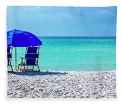 Beach Chair Pair Fleece Blanket