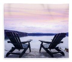 Adirondack Chair Fleece Blankets