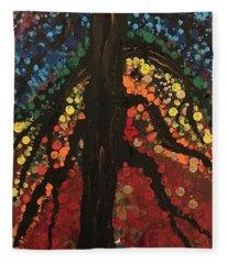 Chakra Tree Fleece Blanket