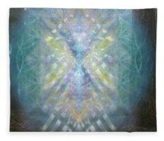 Chalice-tree Spirit In The Forest V1 Fleece Blanket