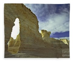 Chalk Pyramids Fleece Blanket
